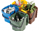 Odpadkový kôš URBA Plus 40 l - zelený