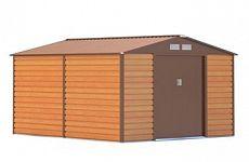 Plechový záhradný domček G21 GAH 884 - hnedý