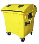 Kontajner na odpad s vhadzovadlami 1100 l FEREX žltý