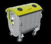 Kovový kontajner na separovaný zber plastov žiarovo zinkovaný 1100 l FEREX