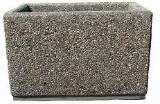 Kvetináč z vymývaného betónu obdĺžnikový 80