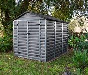 Plastový záhradný domček Palram Skylight 6x8 šedý