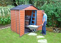 Plastový záhradný domček Palram Skylight 6x5 hnedý