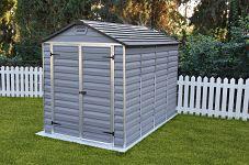 Plastový záhradný domček Palram Skylight 6x10 šedý