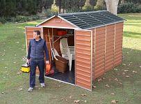 Plastový záhradný domček Palram Skylight 6x10 hnedý