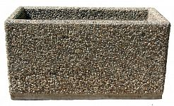 Kvetináč z vymývaného betónu obdĺžnikový 100