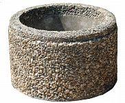 Kvetináč z vymývaného betónu kruhový 30