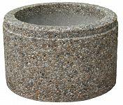 Kvetináč z vymývaného betónu kruhový 30 - DONAU