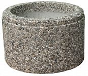 Kvetináč z vymývaného betónu kruhový 30 - MODENA