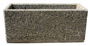 Kvetináč z vymývaného betónu obdĺžnikový 120