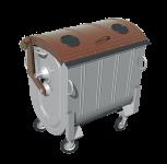 Kovový kontajner na separovaný zber BIO odpadu 1100 l FEREX