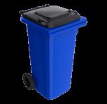 120 l modrá smetná nádoba FEREX - čierny poklop