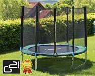 Trampolína s ochrannou sieťou 250 cm zelená