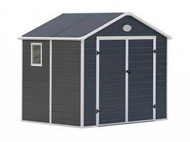 Plastový záhradný domček G21 PAH 458 -  šedý