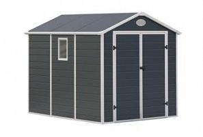 Plastový záhradný domček G21 PAH 523 -  šedý