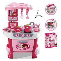 Hračka G21 Detská kuchynka Malá kuchárka s príslušenstvom ružová