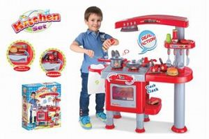 Hračka G21 Detská kuchynka veľká s príslušenstvom červená