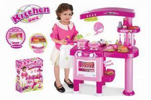 Hračka G21 Detská kuchynka veľká s príslušenstvom ružová