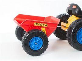 Hračka G21 Vlečka pre šliapací traktor červená