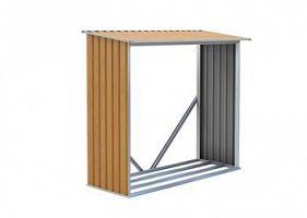 Prístrešok na drevo G21 WOH 136 - 182 x 75 cm, hnedý