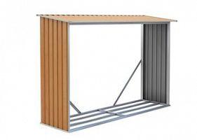 Prístrešok na drevo G21 WOH 181 - 242 x 75 cm, hnedý