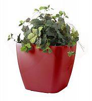 Samozavlažovací kvetináč G21 Cube maxi červený 45 cm