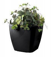 Samozavlažovací kvetináč G21 Cube maxi čierny 45 cm