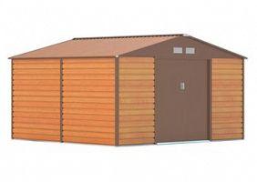 Plechový záhradný domček G21 GAH 1085 - hnedý