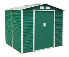 Plechový záhradný domček G21 GAH 407 - zelený