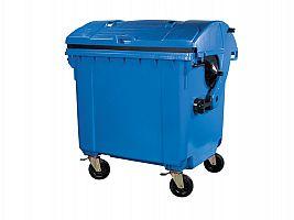 Kontajner na odpad s vhadzovadlami 1100 l FEREX modrý