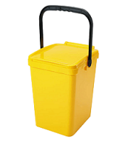 Odpadkový kôš URBA 10 l - žltý