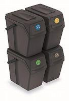 Set  odpadkové koše Sortibox 25 l antracitový