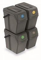 Set  odpadkové koše Sortibox 25 l šedý