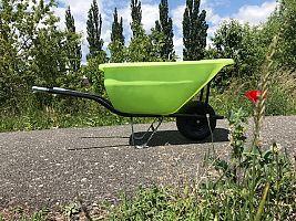 Hospodársky fúrik Ferex 180 l zelený- nafukovacie koleso