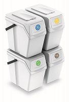 Set  odpadkové koše Sortibox 4 x 25 l biely