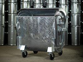 Kovový kontajner na odpad žiarovo zinkovaný 1100 l FEREX