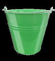 Lakované vedierko 5 l zelené
