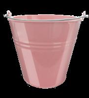 Lakované vedierko 5 l ružové