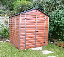 Plastový záhradný domček Palram Skylight 6x8 hnedý