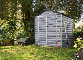 Plastový záhradný domček Palram Skylight 6x5 šedý