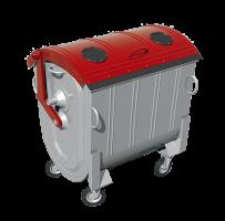 Kovový kontajner na separovaný zber kovov žiarovo zinkovaný 1100 l FEREX