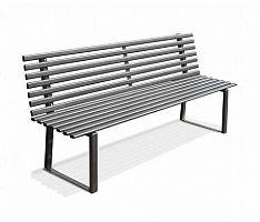 Oceľová lavička O1005