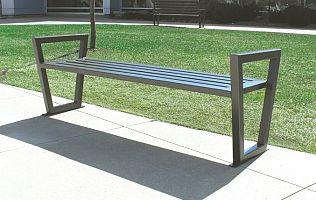 Oceľová lavička O1001