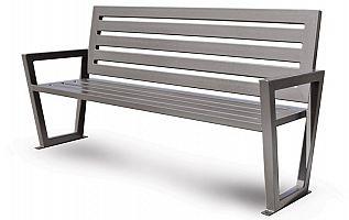 Oceľová lavička O1002