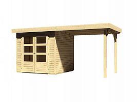 Drevený domček KARIBU ASKOLA 2 + prístavok 240 cm (73245) natur