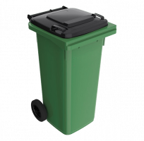 120 l zelená smetná nádoba  FEREX - čierny poklop