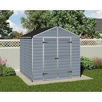 Plastový záhradný domček Palram Skylight 8x8 šedý