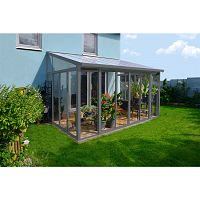 Zimná záhrada Palram Torino 3x4,25 šedá