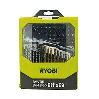 69ks sada vrtákov a skrutkovacích bitov Ryobi RAK 69 MIX