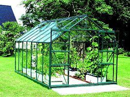 Skleník VITAVIA URANUS 11500 číre sklo 3 mm zelený